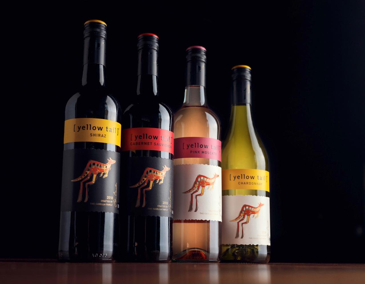 Drinks com Vinhos Yellow Tail
